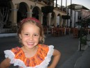 Poser: Kara posing at the square Mazatlan. She just bought that new traditional mexican dress