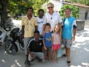 Goodbye to Uligan, Uwe Werner and kids with Iman the local agent, ever so nice