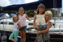 "Kids from New Zealand on sailboat ""Innocenti"" hung around Cammeray marina for Christmas with us"