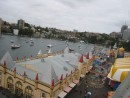 view from the ferris wheel at Sydney