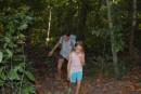 A hike through the hot jungle at Havelock