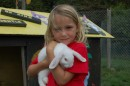 Kara and Marshmallow at a animal family park, outside Christchurch