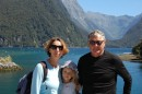 The happy 3 on boat to Milford Sound