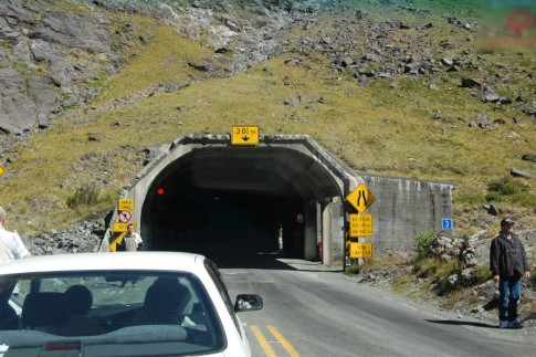 The tunnel on the road to Milford Sound