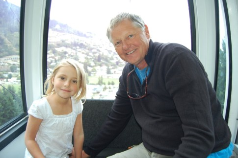 Uwe and Kara on the Gondola, Queenstown, South Island