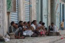 Yemenese men gather and chew qat, all day long it seems