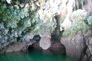 East bay of Phuket, one of the many caves where you can take the dinghy in