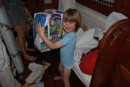 "Sean delighted with his ""buzz lightyear"" gift"