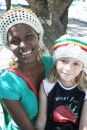 This local lady in Bequia crocheted a lovely hat for Kara