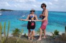 Philippine, Kara and Daniel at the Tobago Cays