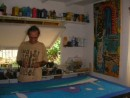 Alain Despert in his studio Bora Bora