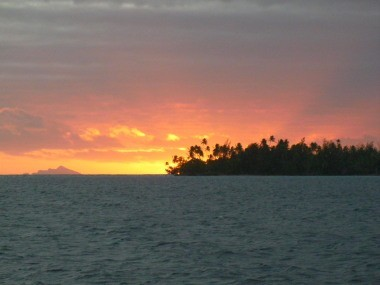 our sunset view Bora Bora