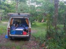 misubishi camper - packed in 5 ins