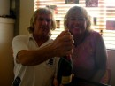 Linda and Bill with Moet