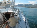 motoring in to Port Louis