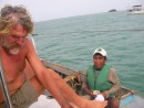 The deal is sealed fishermen Cabo de la Vela for 2 lobsters