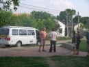 Gringos tour bus visiting Villa Rosita