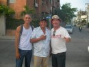 our  tour operators : Andres (guide), driver and Gerard (organiser)
