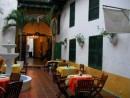 hidden courtyard cafe Cartagena