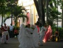 Buskers performing Colombian dance piazza Cartagena