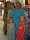Amy and Jack with the Indian shop ladies