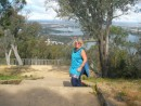 linda top of Black mOuntain Canberra