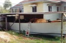 1st part of construction next to house Peachester Sunshine Coast hinterland Queensland