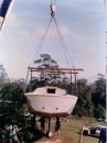 one of many crane lifts - to join the keel