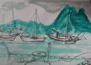 Bora Bora Anchorage			$425	ink,acrylic wash paper		400X575		615X900 white mount/frame