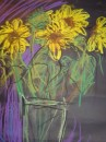 Sunflowers - pastel on paper $200 unframed