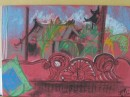 Room with a view - pastel on paper 270X400mm unframed $100