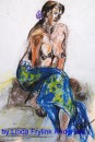 Girl in Blue Sarong 2		pair 2	$450	pastel on paper		550X400		830X680 white mount timber frame