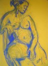 Girl on chair - pastel on paper $200 unframed 640X460
