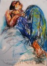 Girl in Blue Sarong 1		pair 1 $450	pastel on paper		550X400		830X680 white mount timber frame