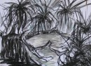 Pandanus - pastel on paper $200 unframed