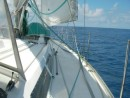 sedate sailing after leaving Vanuatu