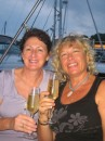 Di and LInda with aussie champers