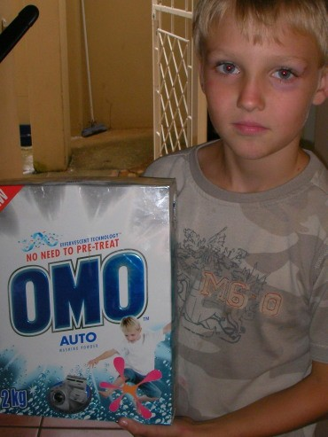 Michael and famous Omo box