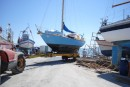 Lati heading to sea from Ria Formosa boatyard