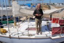 Ricard our neighbour n the boatyard on Golif - smaller than Lati