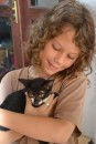 Fynn with one of Villa Kitty