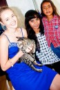 Sammi with kitty and orpahage children