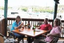 Lunch at Fishtails, St Thomas with Lee and Mark