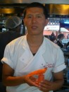 Japanese chef with carrot carving Durban