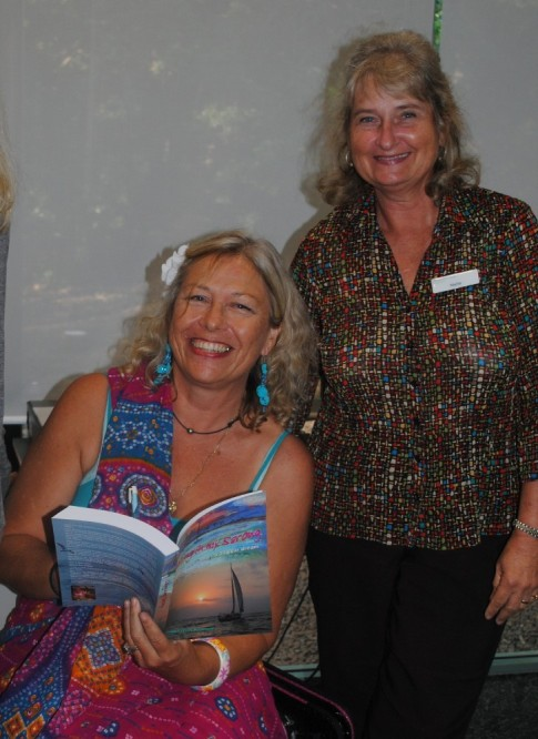 Noosa librarian and Linda