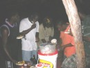 local Grenada Boys cooking on Hog Island