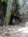 Ozzie Tony at the mouth of the tunnel near the abandoned American base in Chaguaramas.  His favourite area for walks.