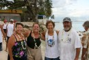 Our outrigger canoe team - we were so proud (and thankful!) we didn