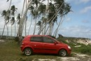 Our little rental car!  To be able to see much of Savai
