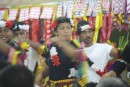 Traditional dancing in the maneapa